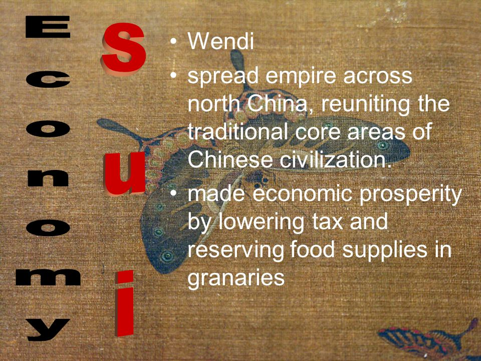 Wendi spread empire across north China, reuniting the traditional core areas of Chinese civilization.