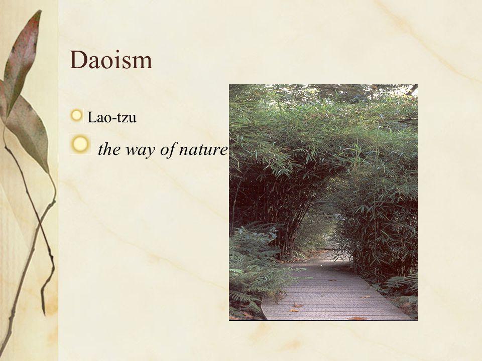 Daoism Lao-tzu the way of nature