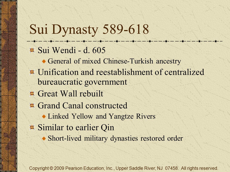 Sui Dynasty 589-618 Sui Wendi - d.