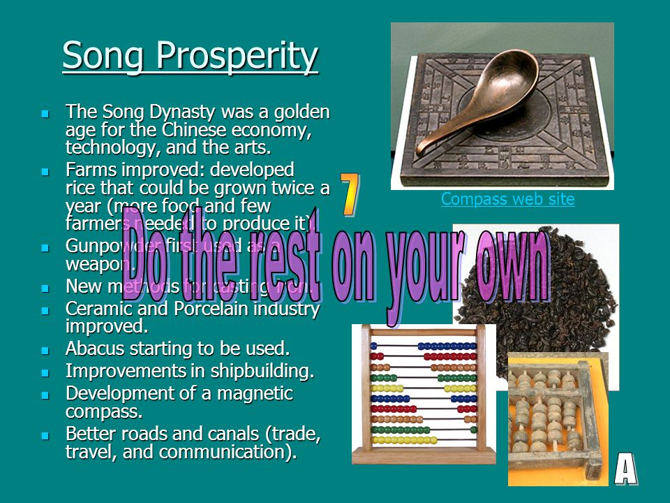 Song Prosperity The Song Dynasty was a golden age for the Chinese economy, technology, and the arts. The Song Dynasty was a golden age for the Chinese