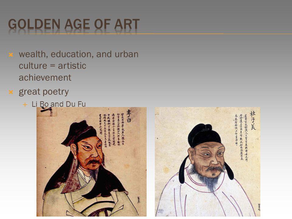  wealth, education, and urban culture = artistic achievement