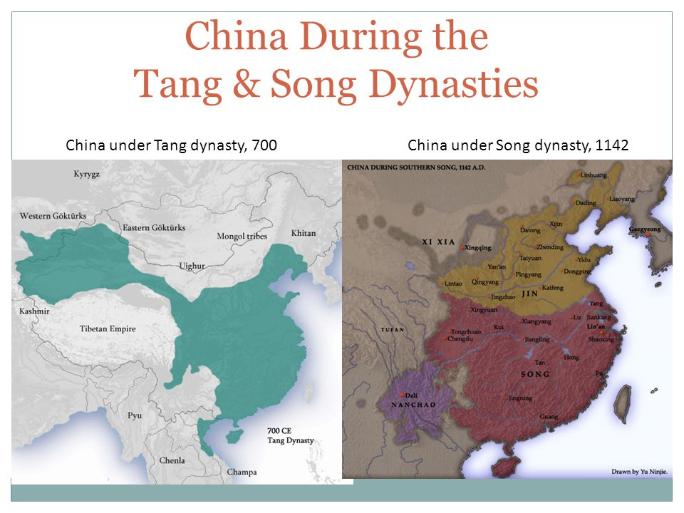 China During the Tang & Song Dynasties China under Tang dynasty, 700China under Song dynasty, 1142