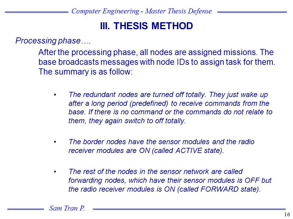 Computer Engineering - Master Thesis Defense Sam Tran P.