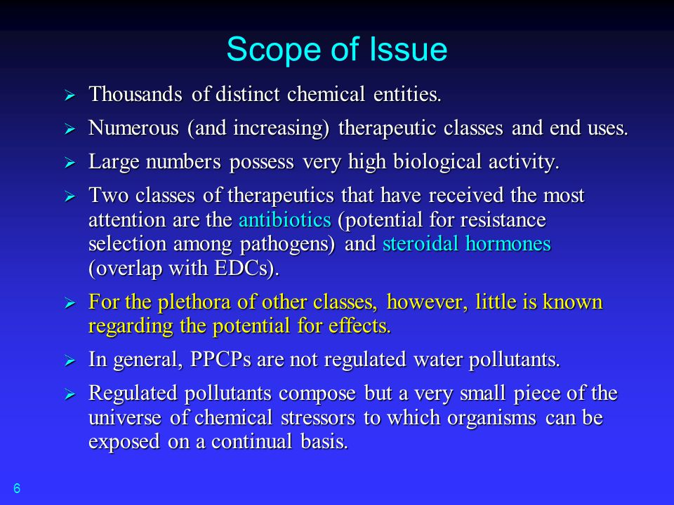 prepared for: Pharmaceuticals in the Environment Organized by: EPA National Regional Science Council s PPCPs (Pharmaceuticals and Personal Care Products) Cross-Regional Team 26 September 2006 Virtual Webinar Series Christian Daughton, Ph.D.