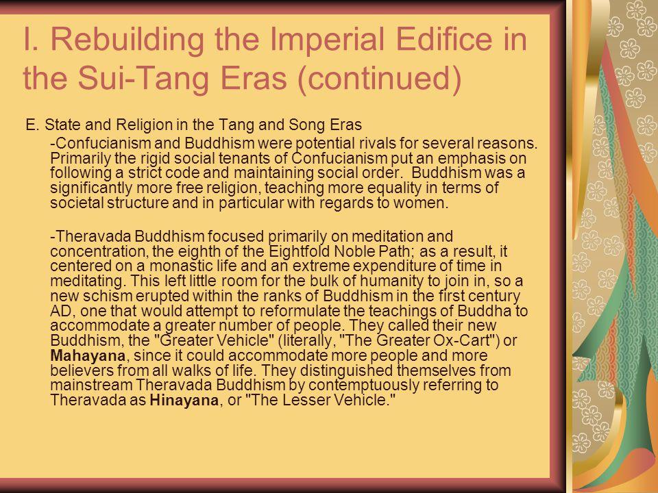 I. Rebuilding the Imperial Edifice in the Sui-Tang Eras (continued) E.
