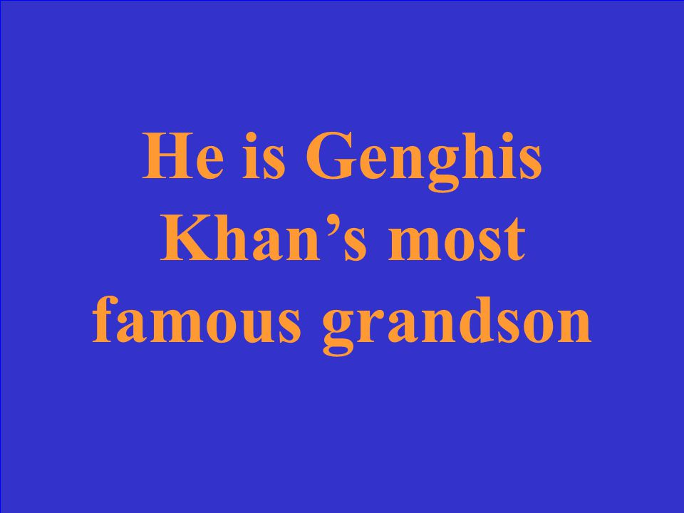Genghis Khan; Temujin