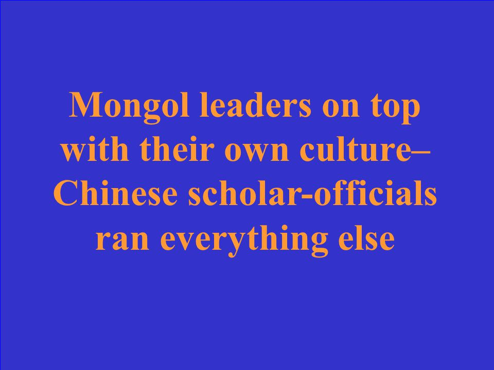 The people who drove out the Mongols did not like that the Mongols had managed the government in this way