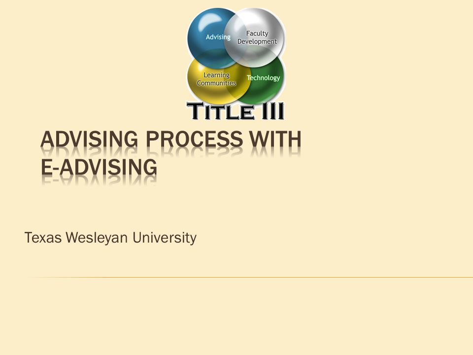 1.Discuss benefits and features of E-Advising 2. Overview of the advising process 3.