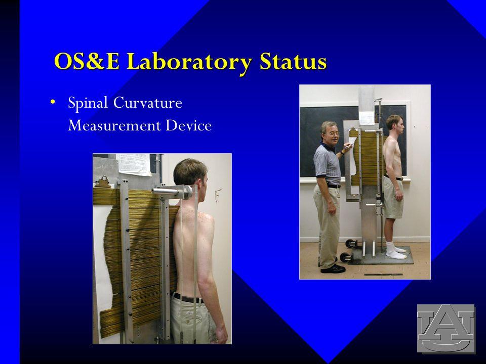 OS&E Laboratory Status Spinal Curvature Measurement Device