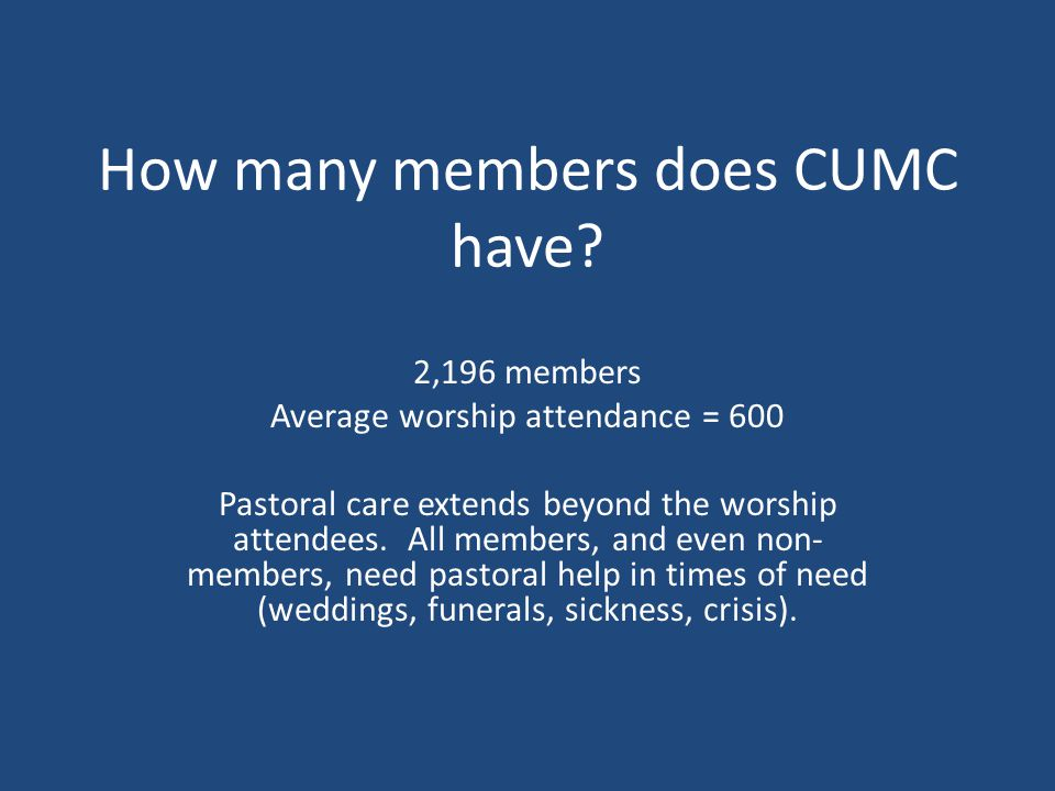 How many members does CUMC have.