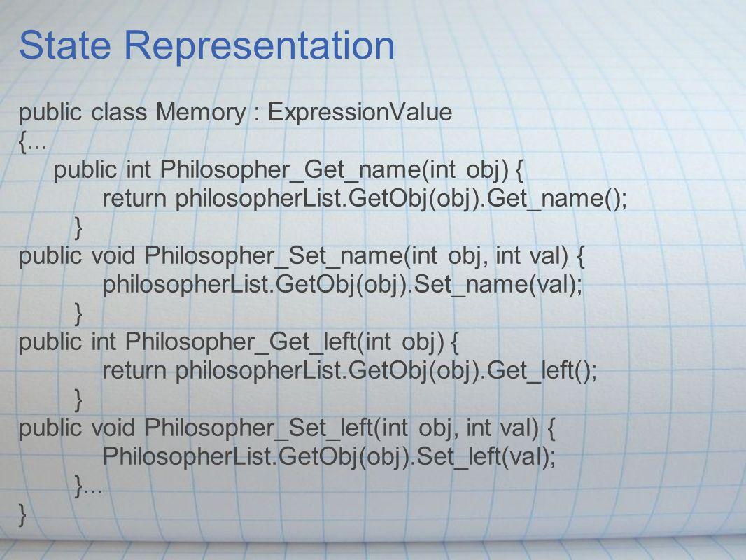 State Representation public class Memory : ExpressionValue {...