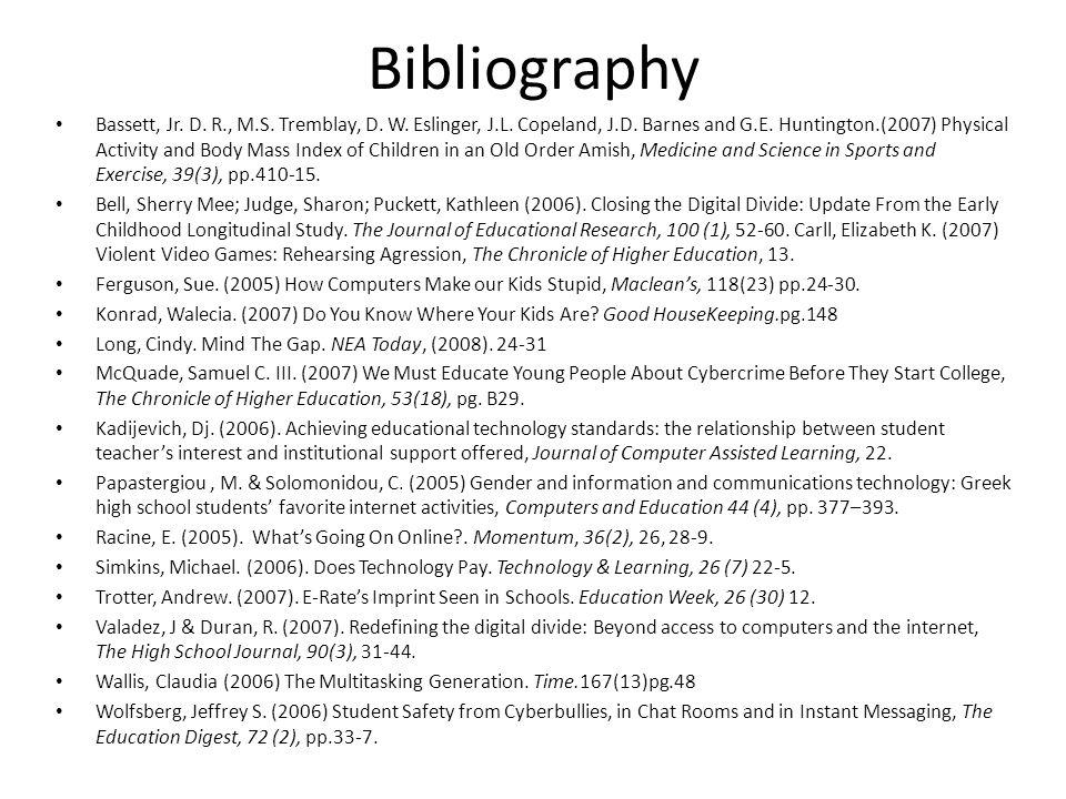 Bibliography Bassett, Jr. D. R., M.S. Tremblay, D.