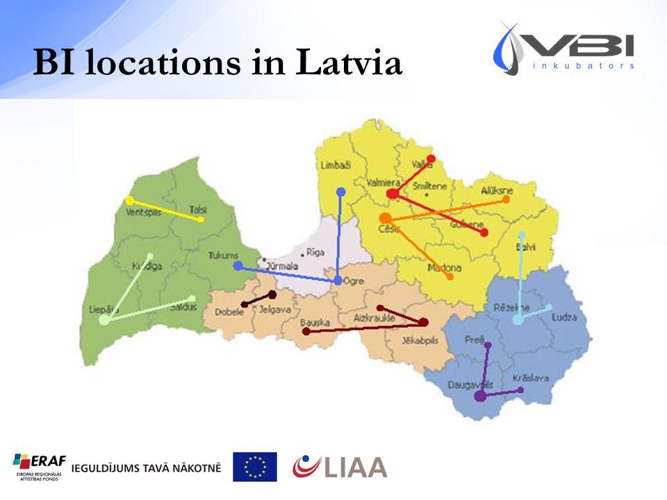 BI locations in Latvia