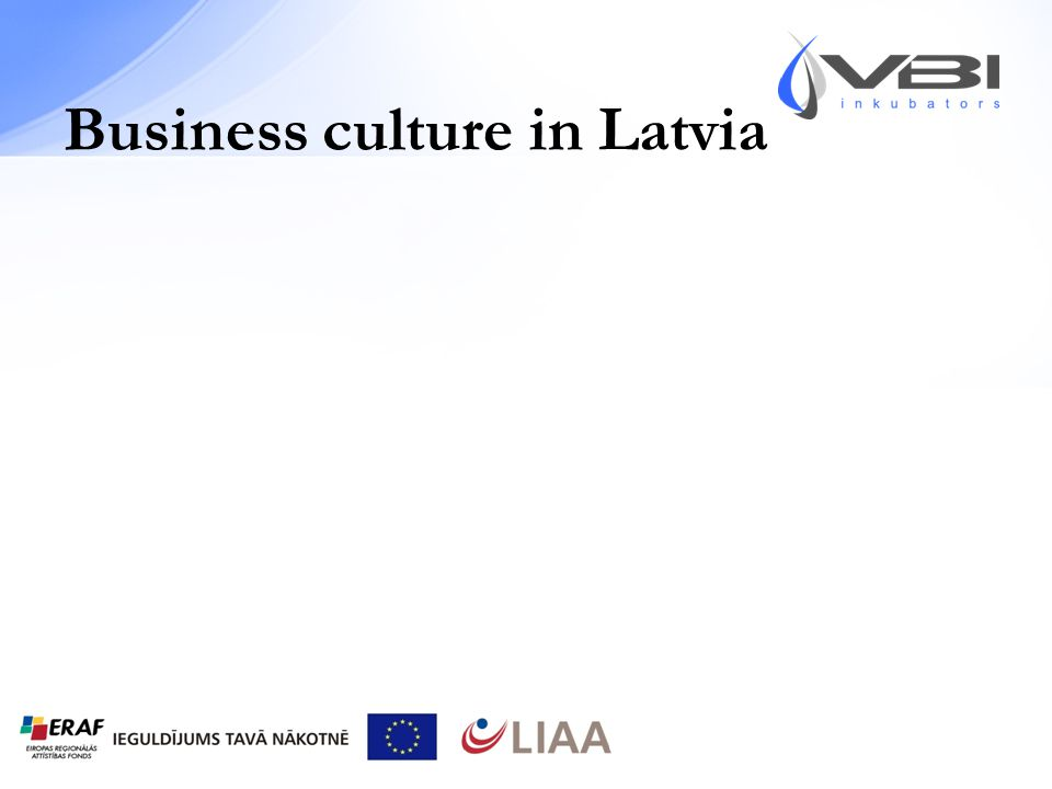 Business culture in Latvia