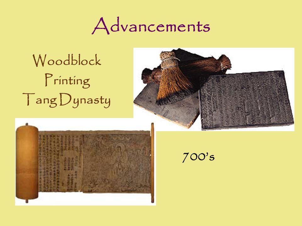 Advancements Woodblock Printing Tang Dynasty 700's