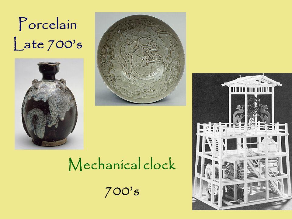 Porcelain Late 700's Mechanical clock 700's