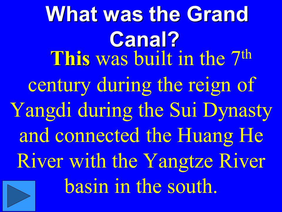What was the Grand Canal.