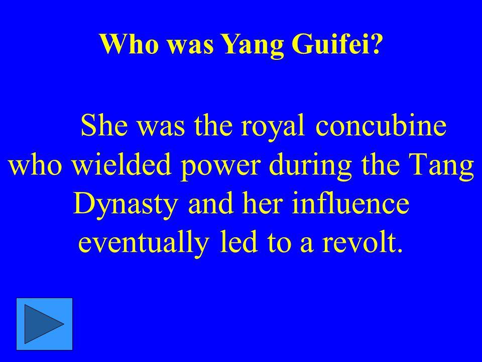 W ho was Yang Guifei.