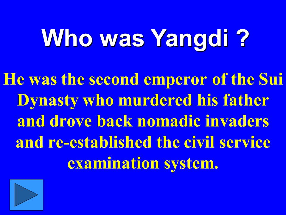 Who was Yangdi .