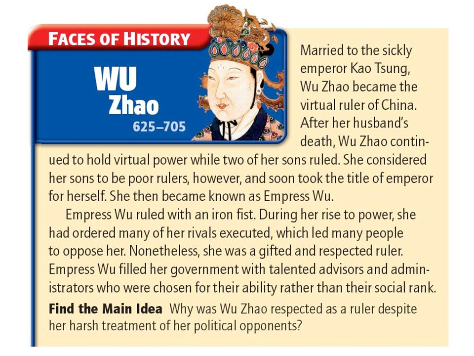 Question for thought! Why is Empress Wu met with disdain by many Chinese historians?