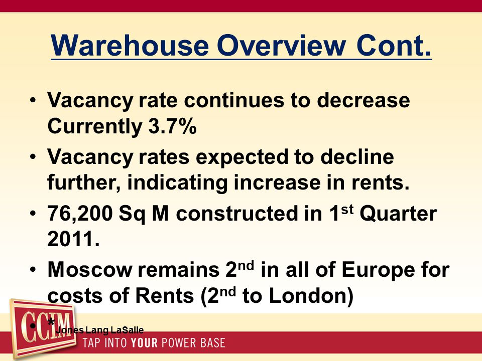 Warehouse Overview Cont.