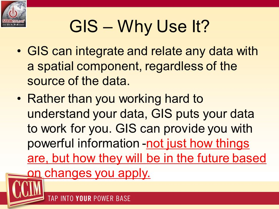 GIS – Why Use It.