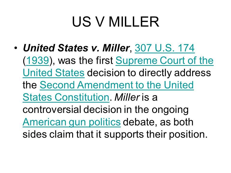 US V MILLER United States v. Miller, 307 U.S.
