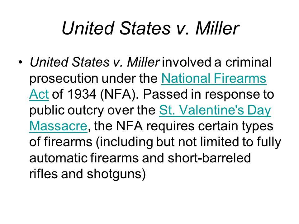 United States v. Miller United States v.