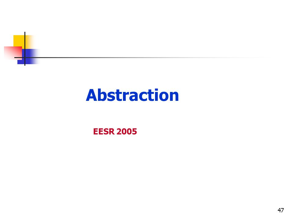 47 Abstraction EESR 2005
