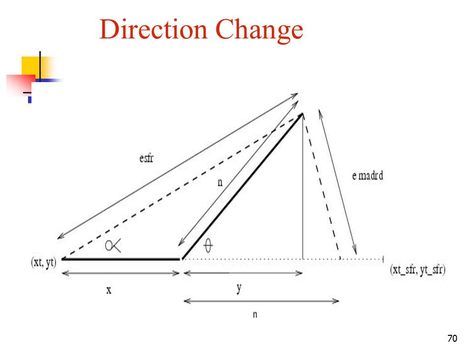 70 Direction Change