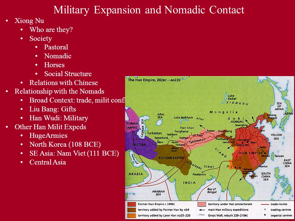 Military Expansion and Nomadic Contact Xiong Nu Who are they.