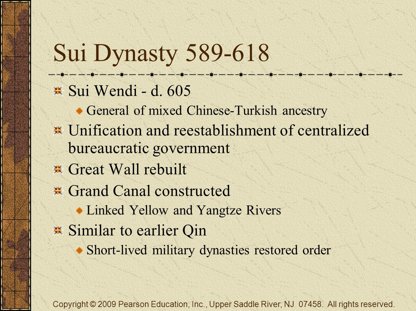 Sui Dynasty 589-618 Sui Wendi - d.