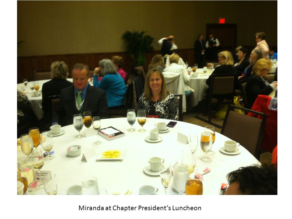 Miranda at Chapter President's Luncheon