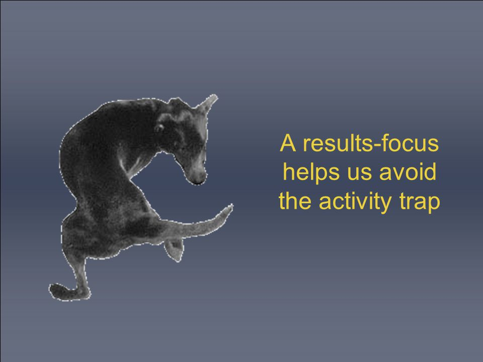 A results-focus helps us avoid the activity trap