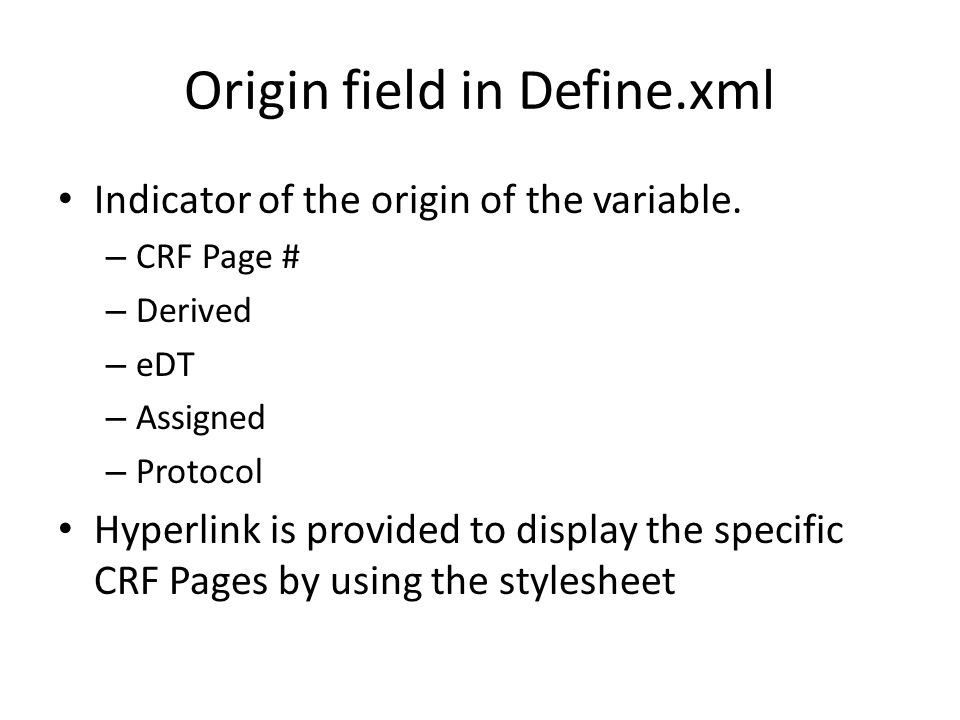 Validity of Origin field The CRF Page number is valid If the reviewer clicks the hyperlink of a CRF Page, then there should be a annotation in corresponding CRF Page