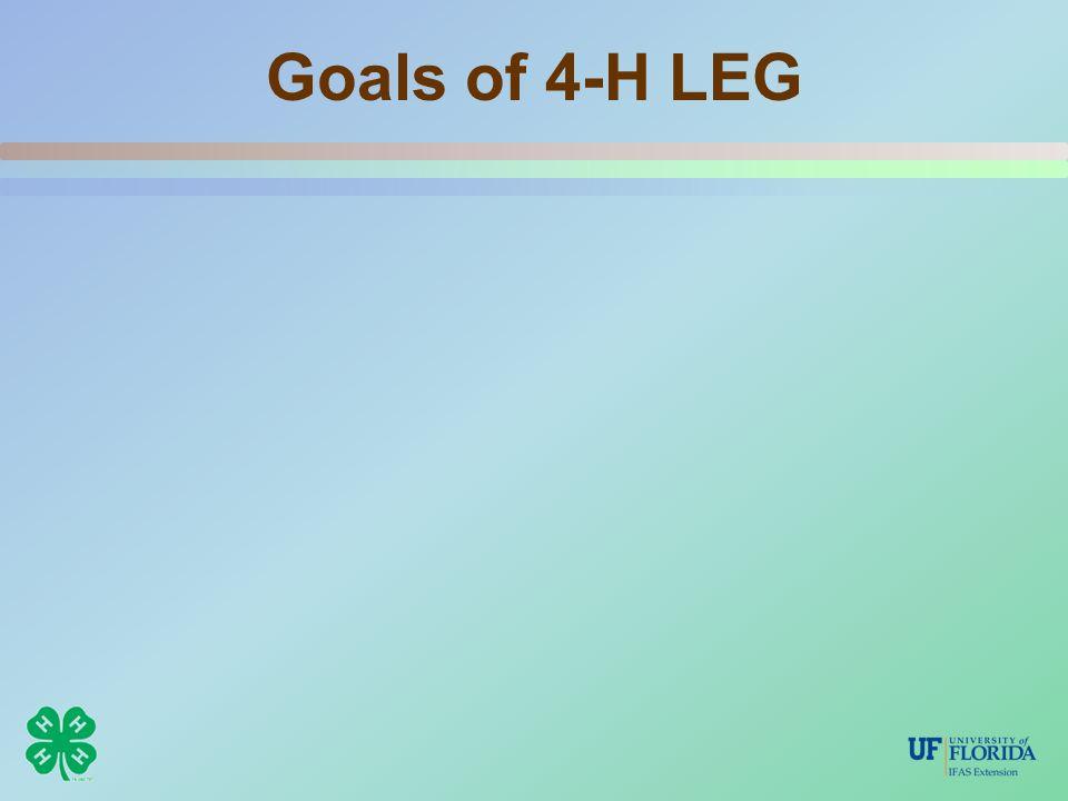 Goals of 4-H LEG