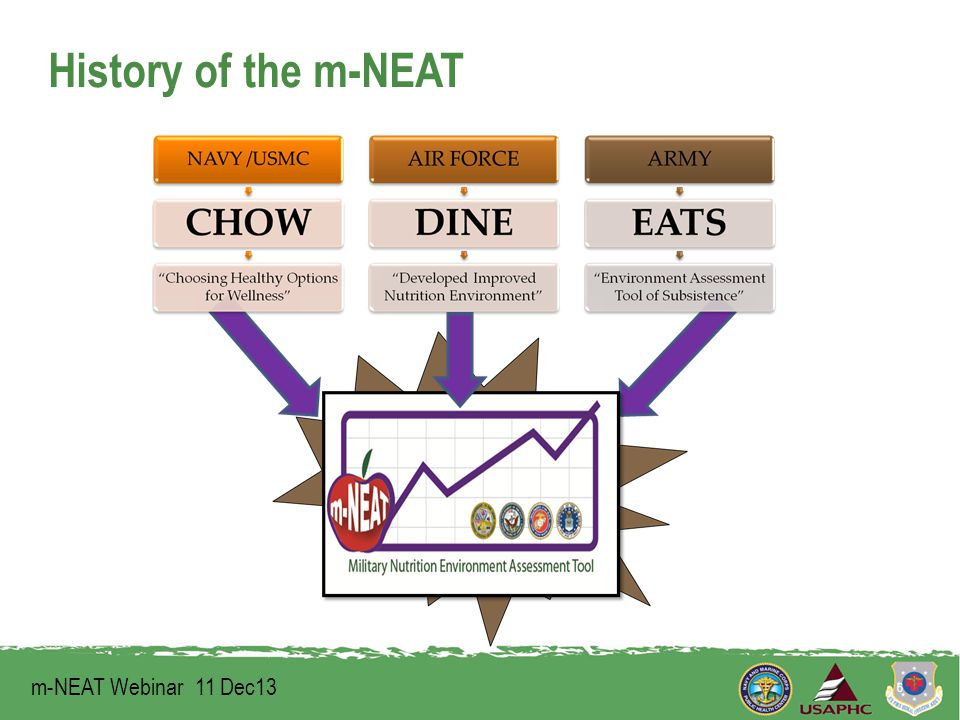 History of the m-NEAT m-NEAT Webinar 11 Dec13 6