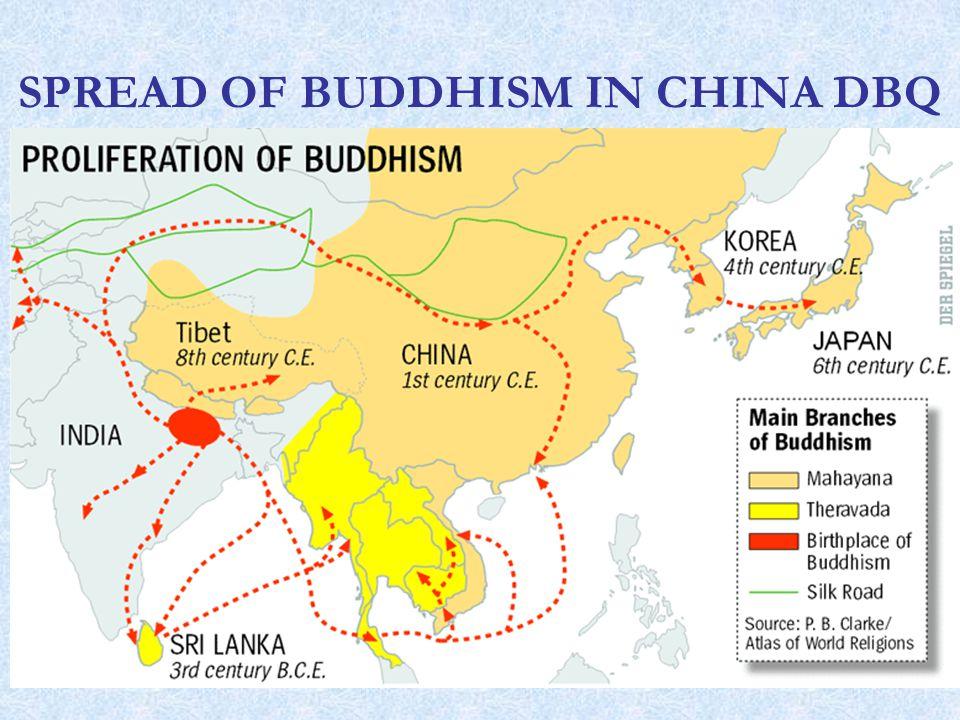 SPREAD OF BUDDHISM IN CHINA DBQ