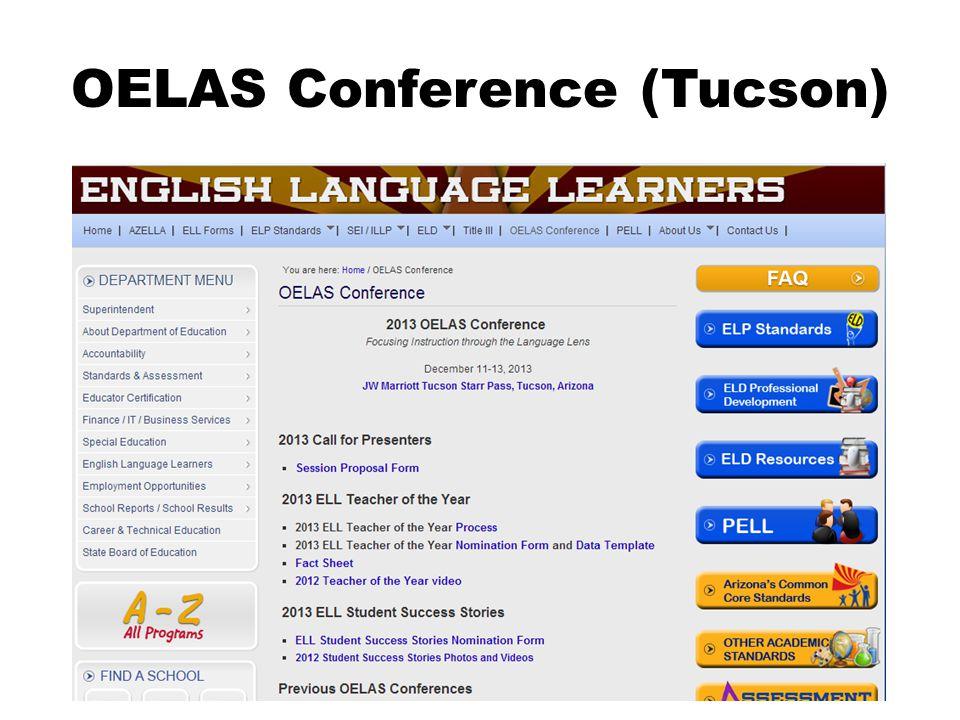 OELAS Conference (Tucson)