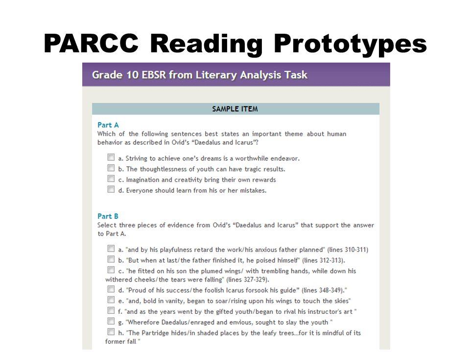 PARCC Reading Prototypes