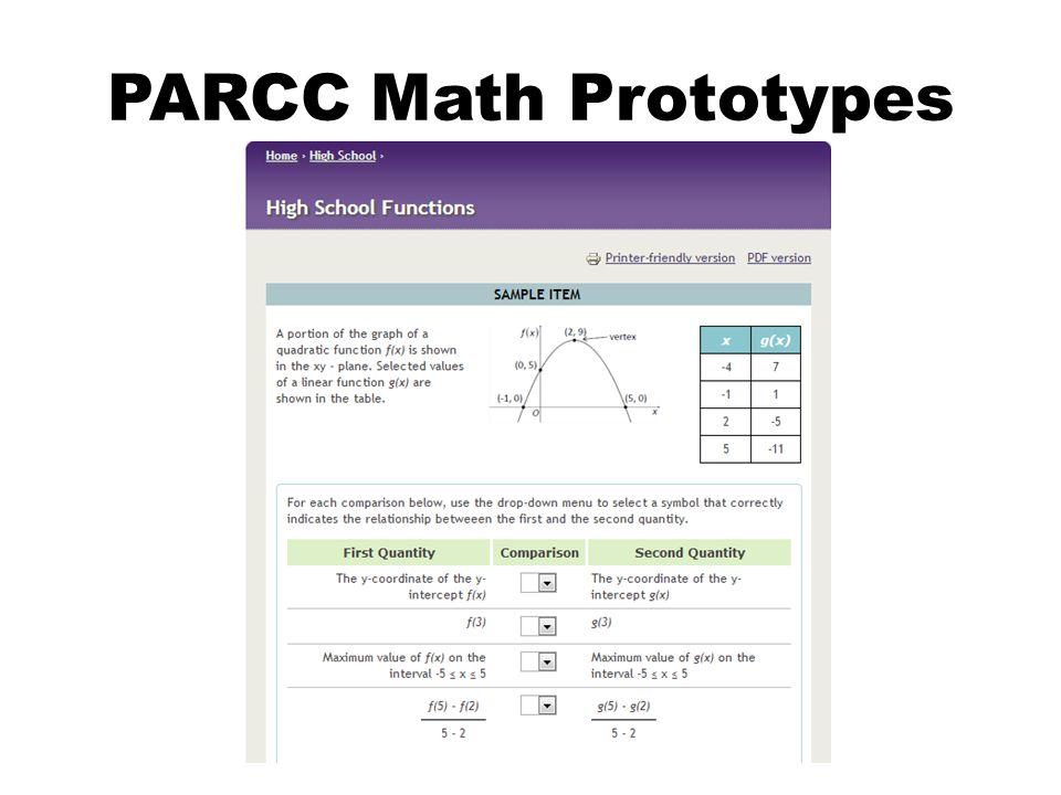 PARCC Math Prototypes