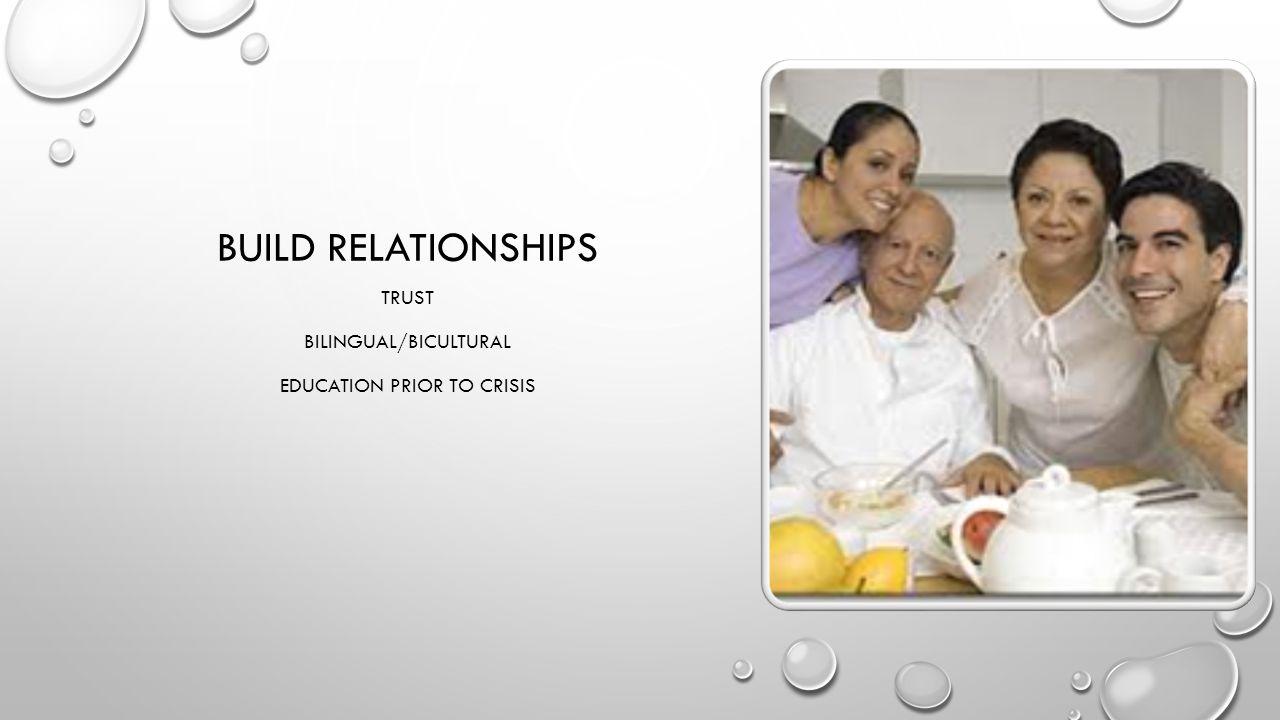 BUILD RELATIONSHIPS TRUST BILINGUAL/BICULTURAL EDUCATION PRIOR TO CRISIS