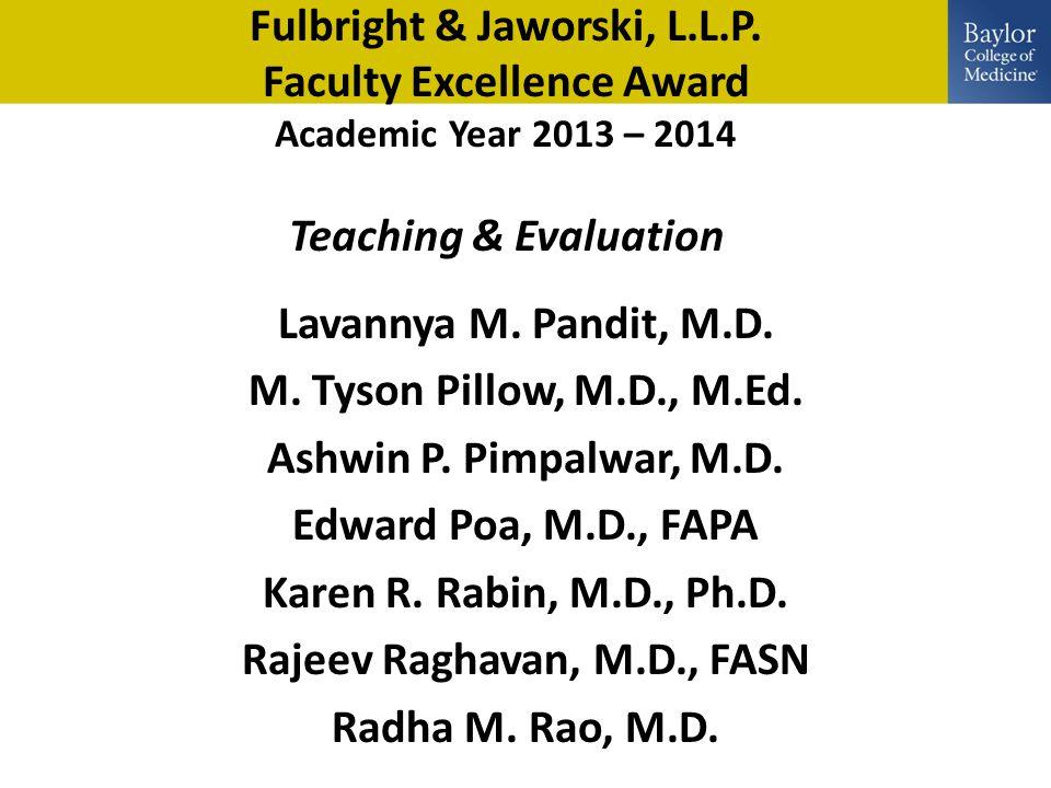 Fulbright & Jaworski, L.L.P.