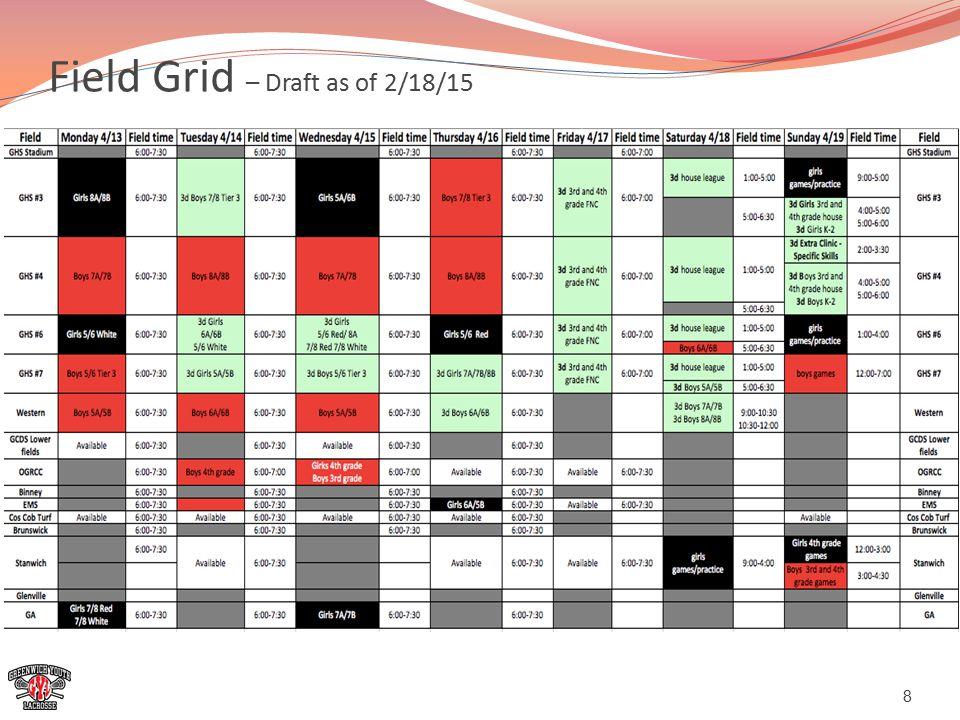 Field Grid – Draft as of 2/18/15 8