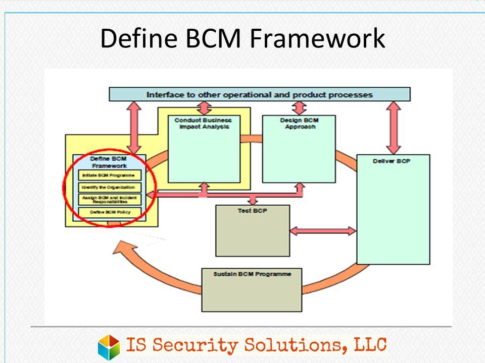Define BCM Framework