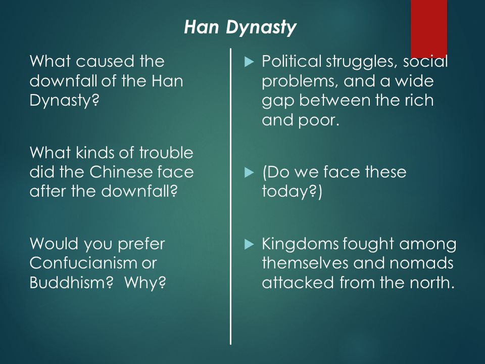 What caused the downfall of the Han Dynasty.