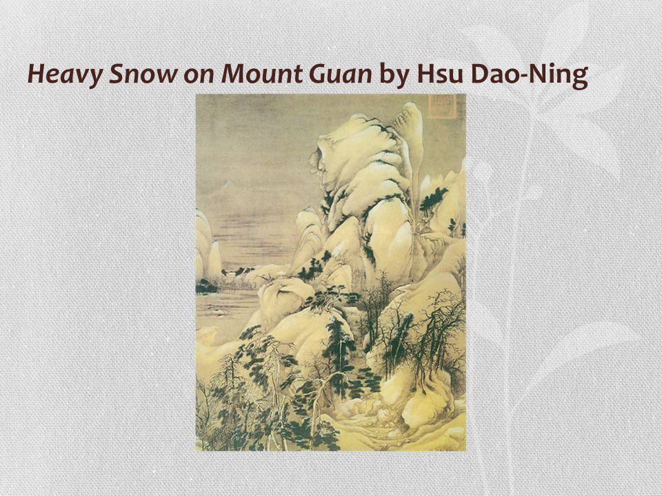 Heavy Snow on Mount Guan by Hsu Dao-Ning