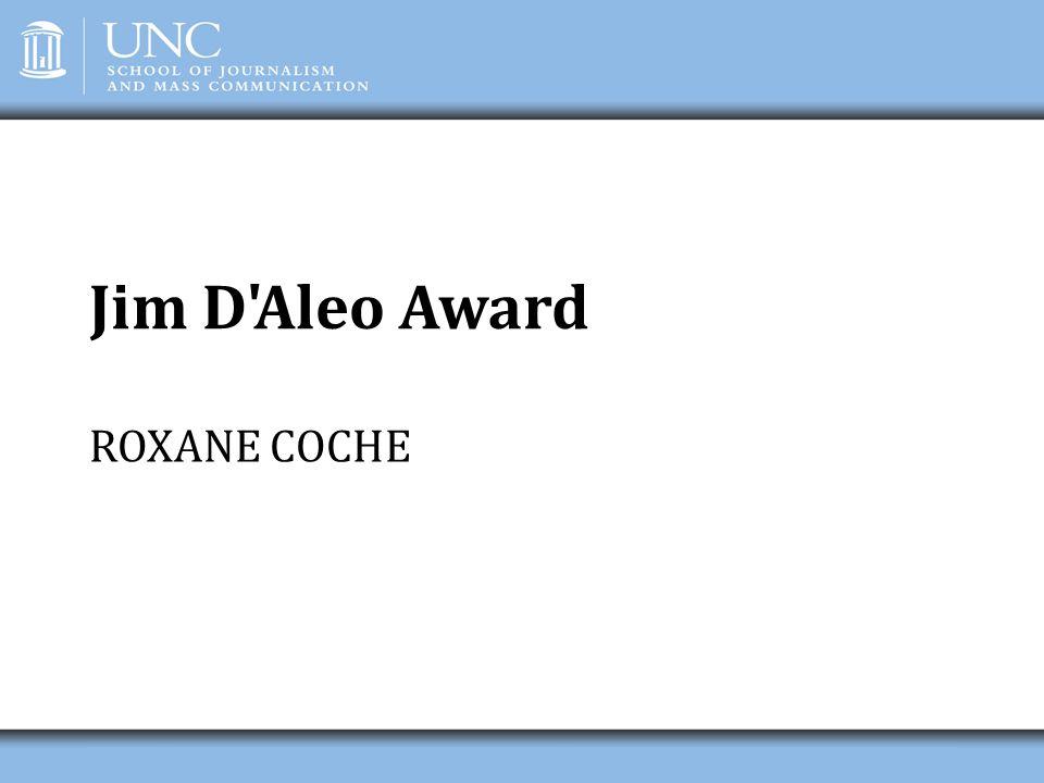Jim D'Aleo Award ROXANE COCHE