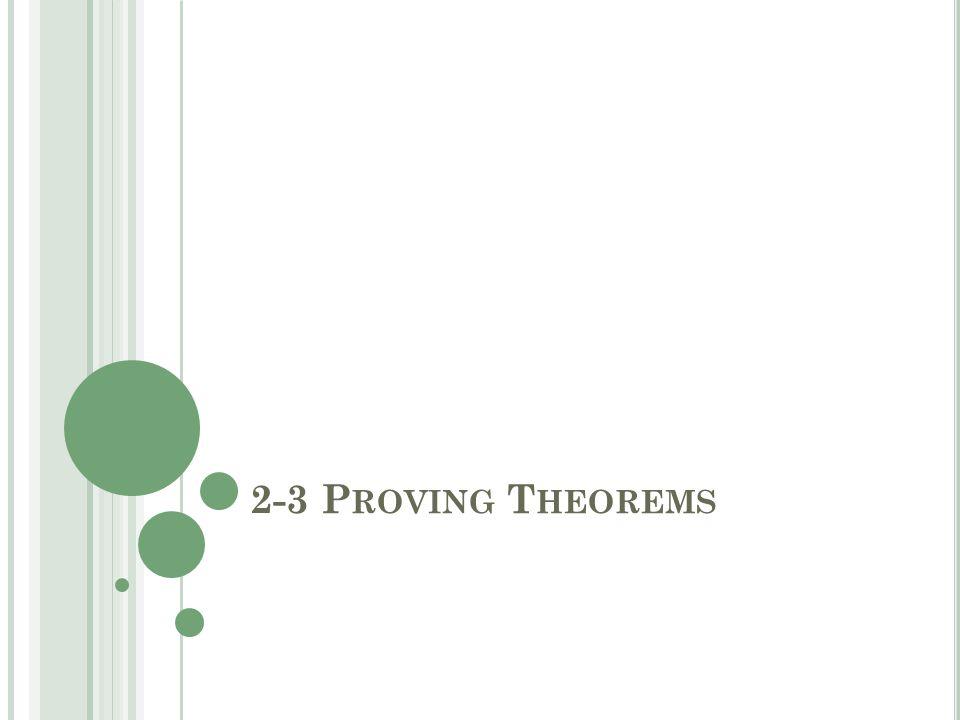 2-3 P ROVING T HEOREMS