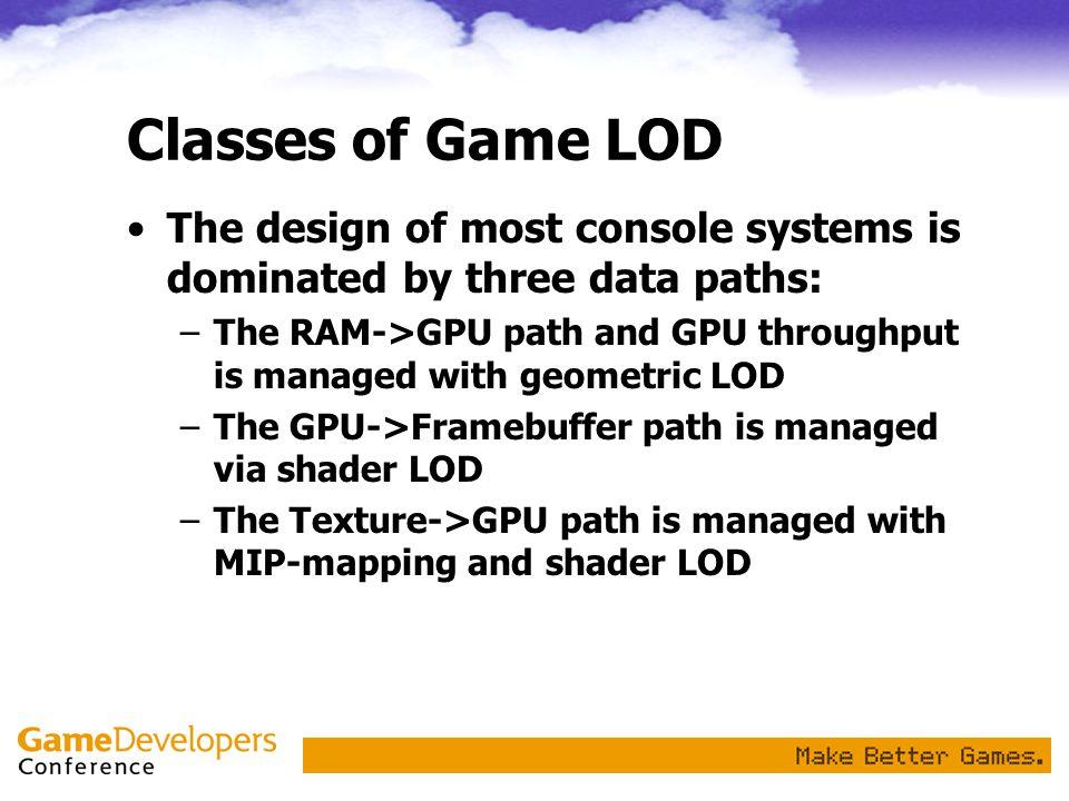 Non-Geometric LOD